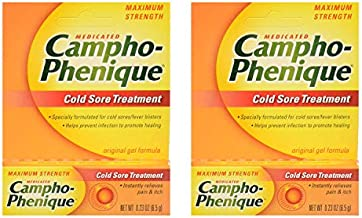 Campho-Phenique Cold Sore Treatment, Maximum Strength, Original Gel Formula, 0.23 Fl Oz - 2 Pack