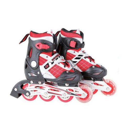 HuntGold Réglable patins à roues alignées chaussures rouge pour les enfants(Taille: S)