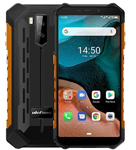 "Ulefone Armor X5【2020】– Android 10 4G Outdoor Smartphone Ohne Vertrag, Octa-Core 3GB RAM 32GB ROM, 5.5"" IP68 / IP69K Robustes Handy, Dual-SIM, 13MP + 5MP + 2MP, 5000 mAh Akku, GPS WiFi NFC Orange"