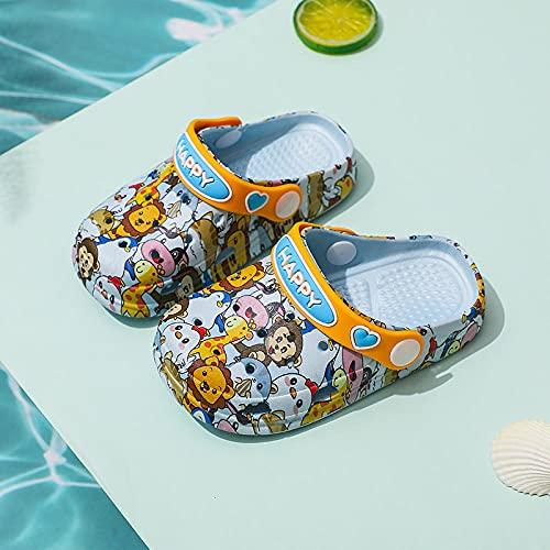"""Zuecos Mujer,Zapatos De La Cueva De Los NiñOs, Hombres Y NiñAs Antideslizante PVC Soft Soft Room, con Bolso De Dibujos Animados Head Beach Garden Sports Shoes-Largo (20cm / 7.87"""")_Azul"""