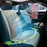 HIMACar Coprisedile Refrigerante,Coprisedile per Auto con Funzione di Raffreddamento Rinfrescante per L'Estate, Massaggio Vibrante per Guida per La Ventilazione del Sedile Dell'Auto,Beige