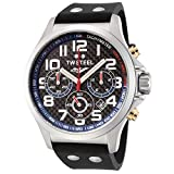 TW Steel Factory Chronograph Racing Blue Silicone Mens Watch TW927