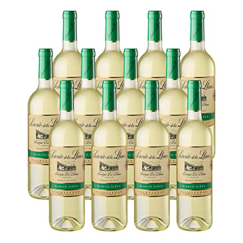 Señorío de los Llanos Airén - Vino Blanco D.O Valdepeñas, 12 Botellas x 750 ml