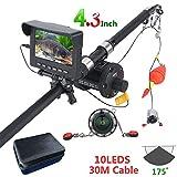 CWHALE Unterwasserfischen-Kamera 4,3-Zoll-Monitor 10PCS LED-Nachtsicht 175 ° Kamera 30M zugfeste Kabel 1000TVL Linien Fischfinder für Angeln