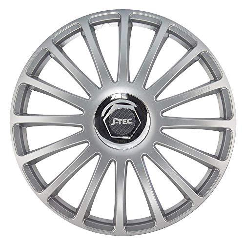 CM DESIGN wieldoppen 14 inch Grand Prix SR (zilver) geschikt voor bijv. Peugeot voor 206