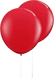 AZOWA Gaint Round Balloons Red Large Party Balloon Big Latex Balloons for Party Decorations 6 Pack 36 inches