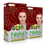 Nisha cream hair color Fashion Highlights And Rich Bright Long-Lasting Colour Flame Red (Pack of 2)