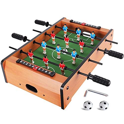 WIN.MAX Mini Tischfussball (Aktualisierung), Tragbarer Leichter Tischfußball, Kickertisch/Tischkicker für Kinder, Einfach zu Montieren und zu Lagern, 51 x 31 x 10 cm