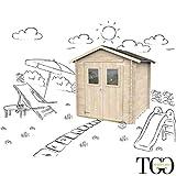 Casetta in legno Per Sdraie e giochi da giardino Jack con porta doppia finestrata 198 x 198 cm