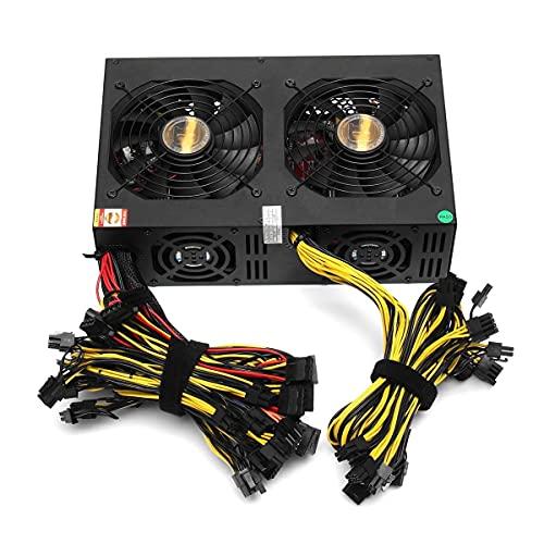 Xiaolizi Fuente de alimentación PC de 3450W PC 80 Plus Gold ATX PC Mélice Máquina de alimentación de alimentación 24 Interfaz gráficos para BTC Bitcoin Mining Server