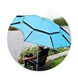 HLMBQ 200/220/240/260cm Sombrilla Playa/Parasol para terraza/Balcón Pantalla,Inclinable Plegable 360° Giratoria antiviento Pescar Camping Exteriores