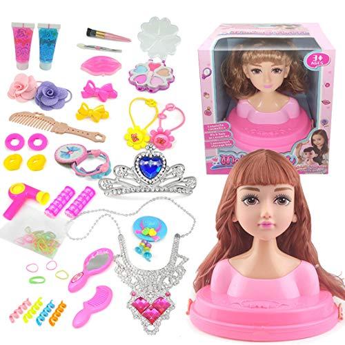 ColiCor Frisierkopf Kinder Kosmetikkoffer Kinder Frisierkoffer für Mädchen Kinder