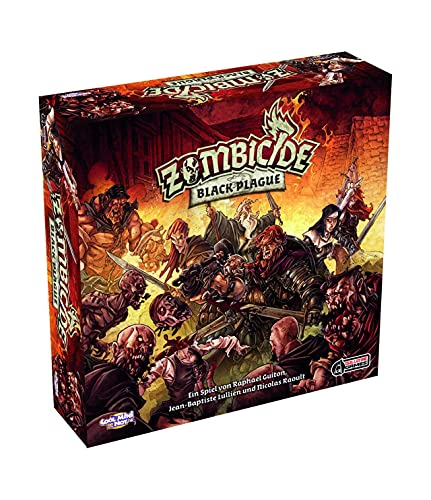 Asmodee Zombicide Black Plague, Juego básico de experimentos, Dungeon Crawler, en alemán