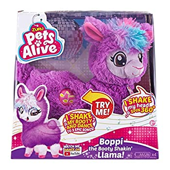 Pets Alive zur Boppi The Booty Shakin Llama Battery-Powered Dancing Robotic Toy Purple