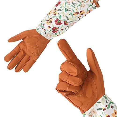 NoBrand 1 Paar lange Gartenhandschuhe für Damen, bequeme Arbeitshandschuhe, gefüttert mit einem weichen Siesta