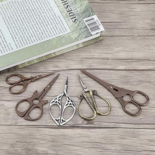 Pokerty9 Herramienta de Manualidades DIY Tijeras de Coser Tijeras(Leaf Scissors Silver)