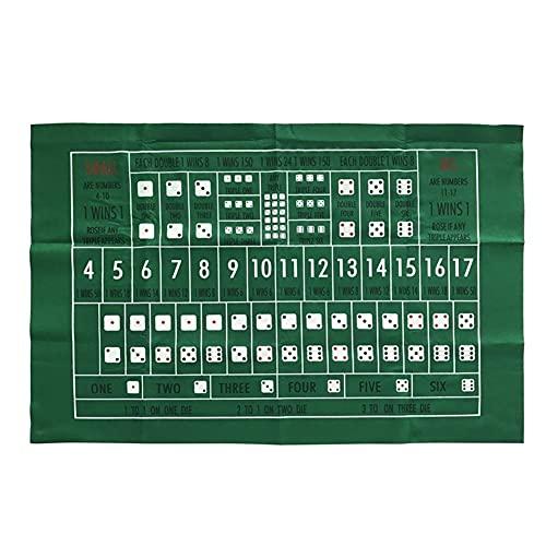 GHKLO 60 * 90 cm Baccarat-Tuch Einseitige Spieltisch-Poker-Set Poker-Layouts Tischdecke Filz Filzbrett Unterhaltung