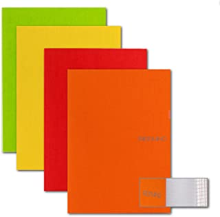 Ecoqua Dot Pocket Size Ntbk Warm Colors 4Pk