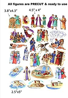 The Parables of Jesus Felt Figures for Flannel Board Bible Stories-precut