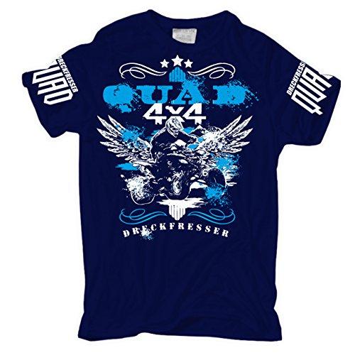 Männer und Herren T-Shirt Dreckfresser Quad Größe S - 8XL