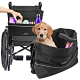 Pivit Wheelchair Bag | Wheel Chair Storage Tote Accessory for Carrying Loose Items and Accessories | Travel Messenger Backpack for Men, Women, Handicap, Elderly | Accessible Pouch and Pockets, Black