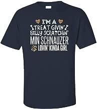 My Family Tee MIN Schnauzer Lovin' Kinda Girl Gift for Puppy Dog Lovers - Unisex T-Shirt