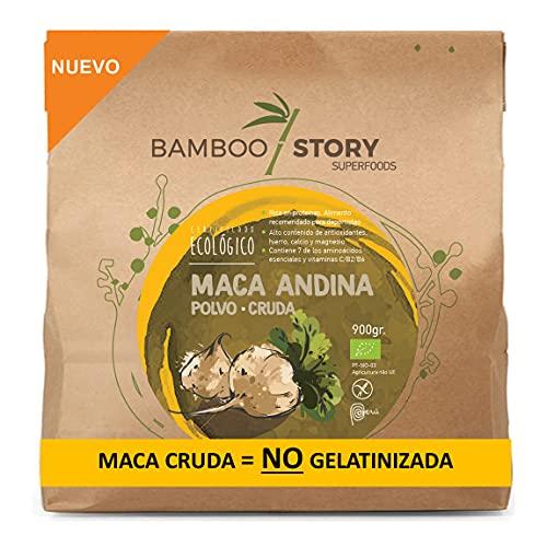 NUEVO - Maca Andina/Peruana/polvo/powder cruda ecológica BAMBOO STORY 900g