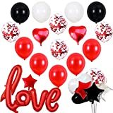 Kit San Valentin 2021 Decoracion,26 Pcs Globos San Valentin Globos Corazon...