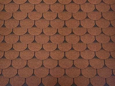 Isolbau Dachschindeln 3 m² Biberschindeln Braun (21 Stk) Schindeln Dachpappe Bitumenschindeln Gartenhaus Vogelhaus Holz Kaninchenstall Betonsäulenüberdeckung Hundehütte