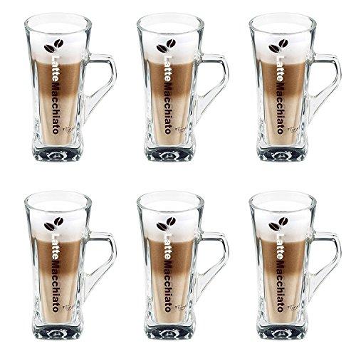 Flirt by R&B 691771 Crema Latte-Macchiato-Becher, 330 ml, Glas, klar (6 Stück)