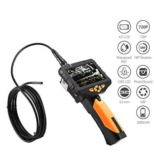 YYANG Endoskop 1080P HD 4 5 Zoll LCD-Digital-Inspektionskamera Mit 7 6-mm-Kamera IP67-wasserdichte Halbstarre Schlangen-Endoskop-Kamera