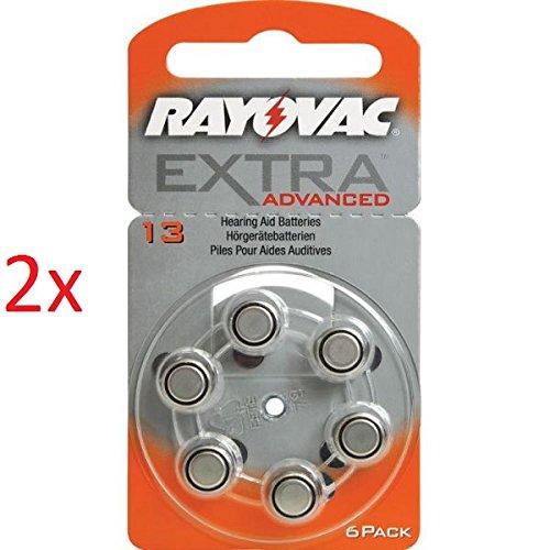 Rayovac Batterien 1,45V 6-teilig (Set) Akkus von Geräten auditifs-acoustic Special 675/312/13/10-extra Advanced 10/13/312/675-extra Mercury Free 10/13/312/675–6er & in Blisterverpackung - 2x Nr. 13 Extra Advanced 6er Blister