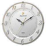 リズム(RHYTHM) 掛け時計 白 Φ33x5cm ディズニー くまのプーさん 掛け時計 電波時計 M542 8MY542MC03