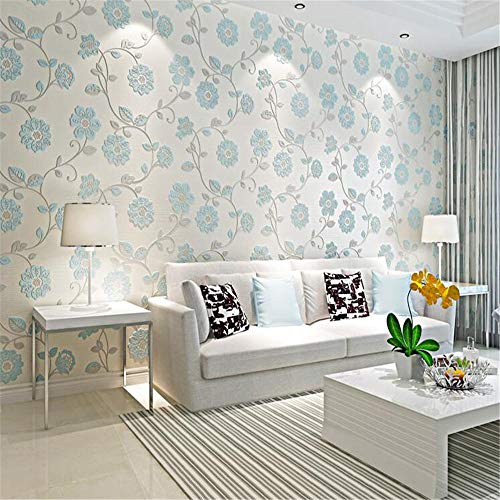 Behang print blauw S4204 modern vlies slaapkamer woonkamer behang rol sticker voor meubels waterdicht PVC achtergrond muur
