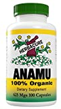 Herbacure Anamu 625mg (1250 Mg Per Serving) - 100% Organic - 100 Capsules