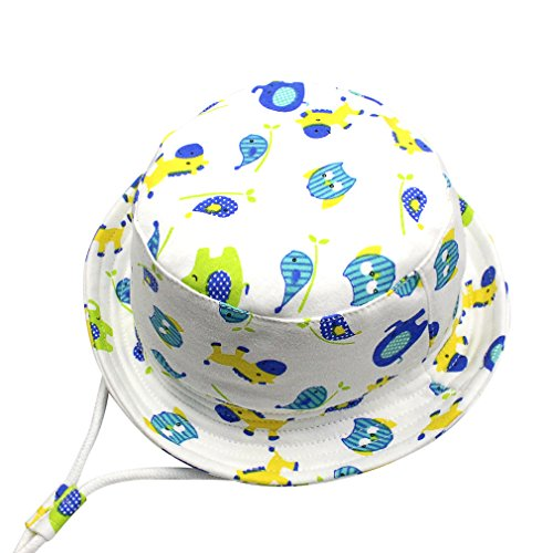 GEMVIE Chapeau Bob Bébé Enfant Chapeau de Soleil Unisexe Anti-UV Solaire pour Plage Outdoor Loisirs (Motif Animaux, 2-4 Ans)