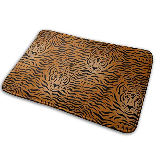 MHKG Felpudo Tiger Animal Print Non-Slip Area Rug Home Decor Indoor Outdoor 15.8 x 23.6 Inches