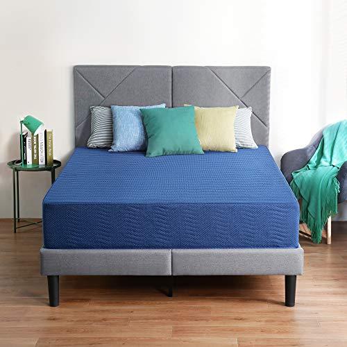 Olee Sleep 10 Inch New Safe Comfort Memory Foam Mattress, Blue, Queen