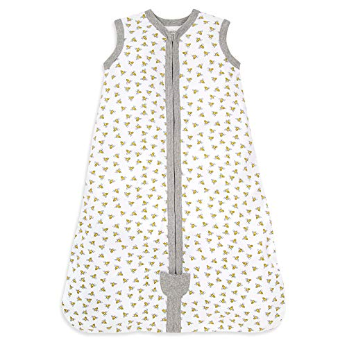 Burt's Bees Baby Baby Beekeeper Wearable Blanket, 100% Organic Cotton, Swaddle Transition Sleeping...