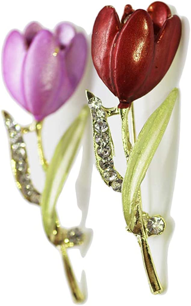 JustMyDress Tulip Flower New Sale item product Brooch Pin Brooches Br Suit Rose