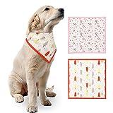 Changor Collar de Bufanda para Mascotas, Hecha de algodón 35 * 35 cm Baberos bufands Accesorios para Perro Mascota pequeño