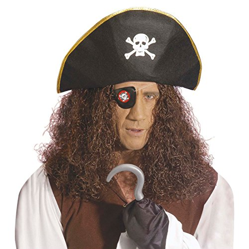 NET TOYS Set de Pirate Chapeau Pirate Crochet Bandeau Pirate Pirates kit Pirate Mardi Gras Carnaval Flibustier Corsaire déguisement Accessoire
