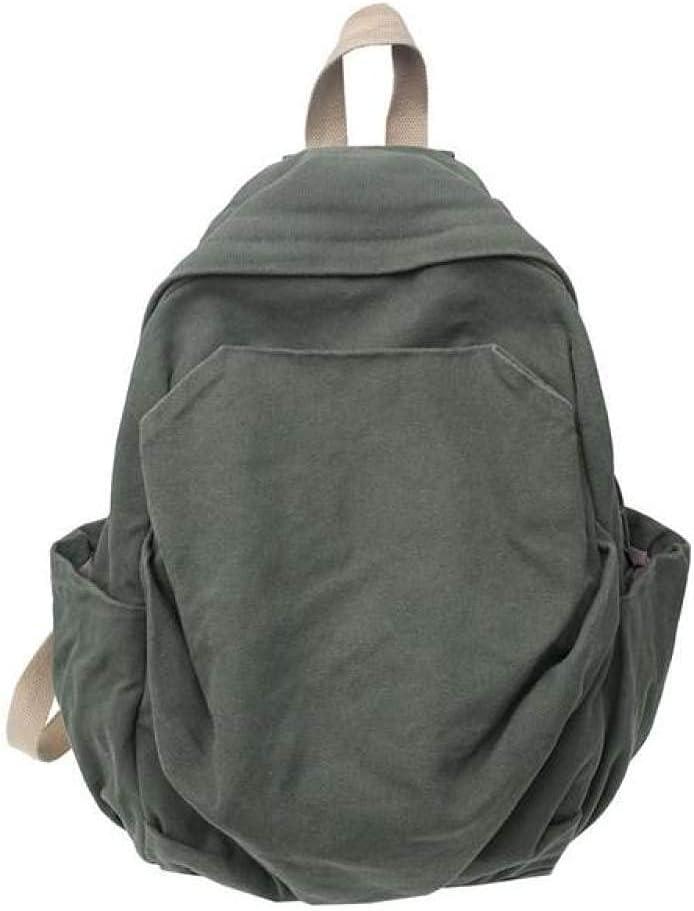 Casual Fashion Backpack Women Backpack Canvas School Bags for Teenage Girs Travel Shoulder Bag Multi Pocket,green