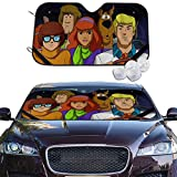 Harataki Scooby Doo Mystery Machine Car Front Windshield Sun Shade Universal Fit Window Shades Foldable UV Ray Reflector Sunshade Visor Keeps Vehicle Cool