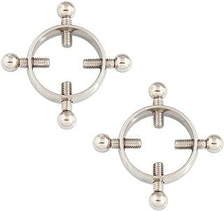 Nipple Rings Nipple Shields Screw Body Piercing Jewelry Adjustable Circle Stainless Steel 1 Pair