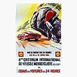 Racing Race German Vintage Motorista Travel Criterium Regalo para la decoración del hogar Wall Art Print Poster 11.7 x 16.5 inch