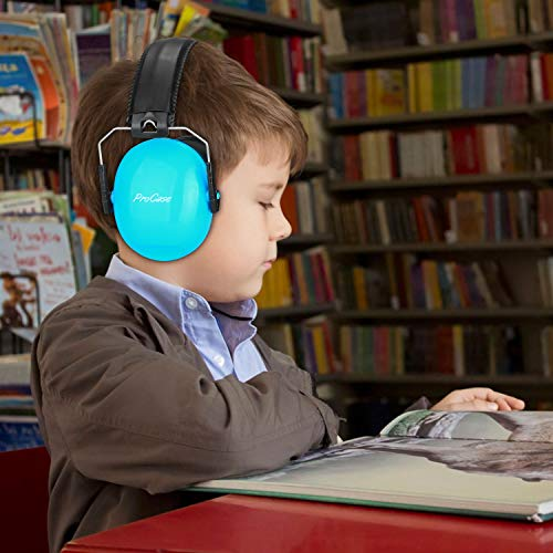 ProCase Kids Noise Cancelling Safety Ear Muffs Headphone, Hearing Protection Headset Noise Reduction Earmuffs Ear Defenders for Babies Toddlers Children