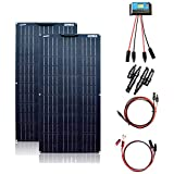 XINPUGUANG 200w kit Pannello Solare 2 pezzi 100 w 18 v pannelli solari flessibili 20A regolatore per Camper, Barche, Tenda, Auto, rimorchi, Batteria da 12 V