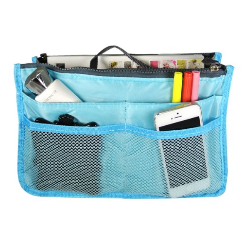 Bag Organizer Purse Insert Handbag Organizer Travel Bag, Blue