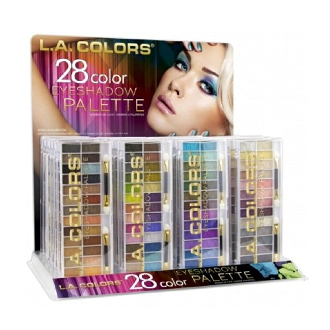 絶え間ない悪質なカブL.A. COLORS 28 Color Eyeshadow Palette Display Set 24 Pieces (並行輸入品)